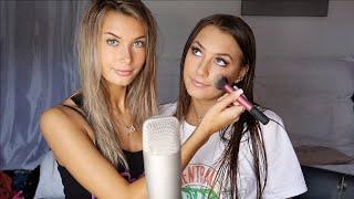 ASMR Doing My Friends Makeup