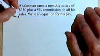 Equation of a Line Given the Slope and y-intercept - word problems 2-9b