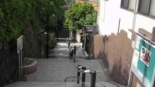 本郷の台地より菊坂方面へ下る急な坂道で、現在は53段の階段坂となって...
