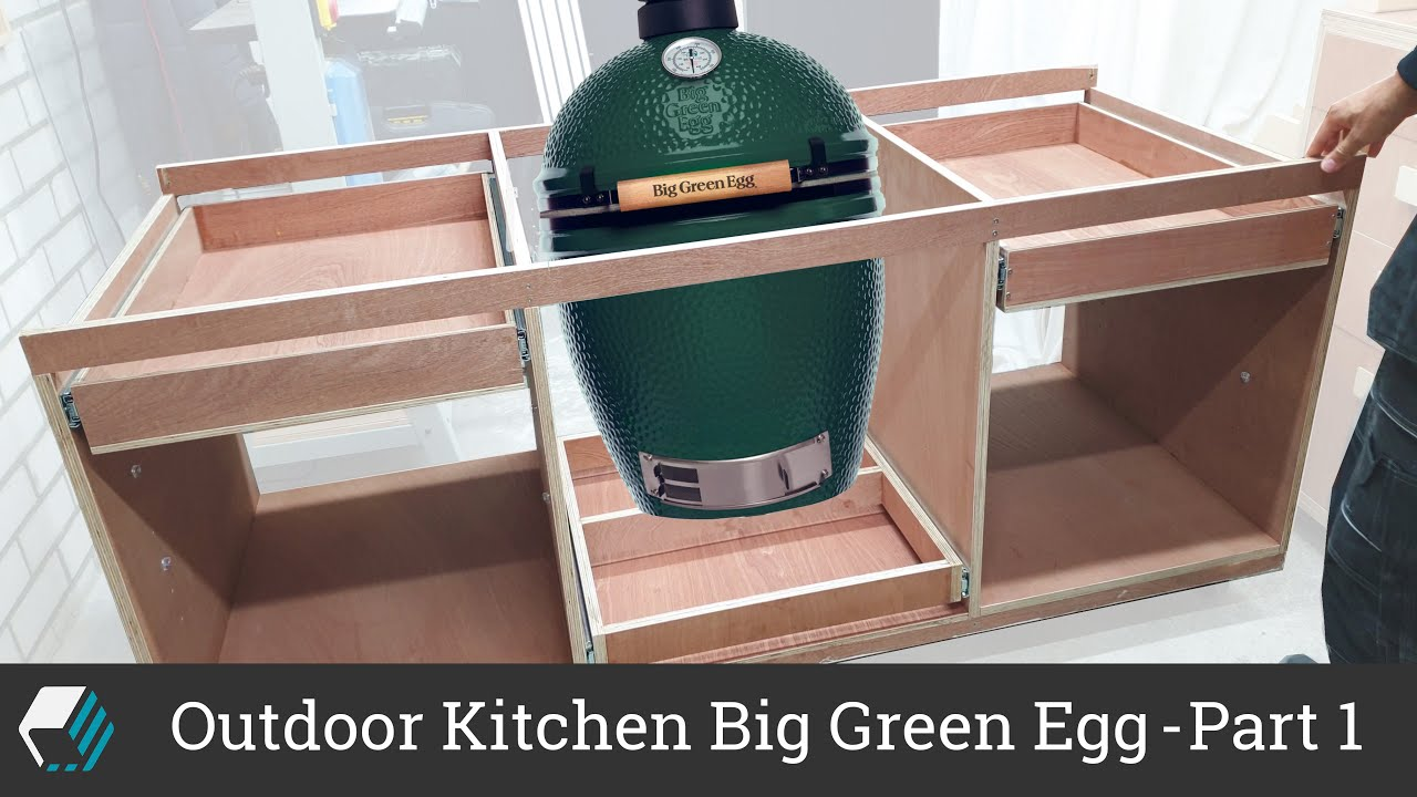 Outdoor Kitchen For Big Green Egg Bbq Part 1 Frame Assembly Drawers Shelves Youtube