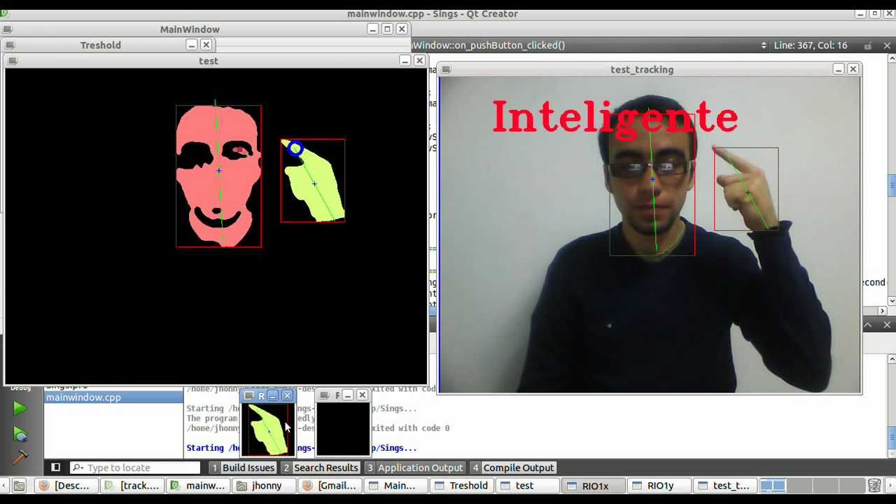 Sign Language Recognition Software Using C Opencv Cvblob