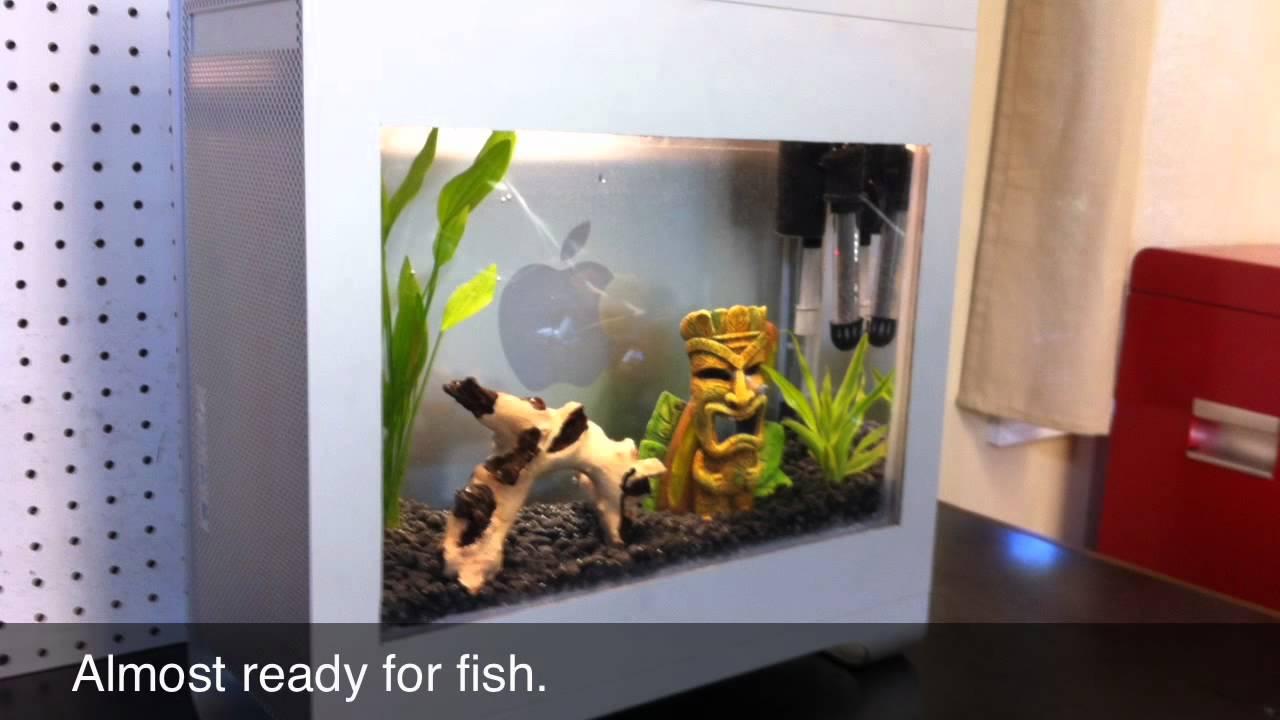 Drive A Tank >> Mac Pro Fish Tank Build - YouTube