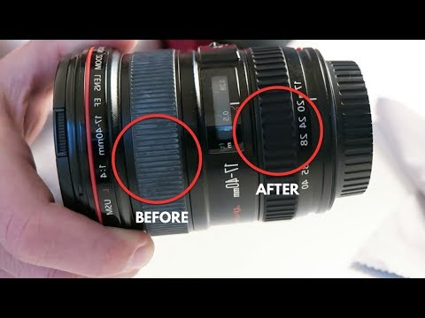 How to clean lens rubber from white grime - Episode 6