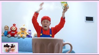 My grandfather was in the water cup Pretend play with Yuni and Grandfather Compilation for kids 로미유