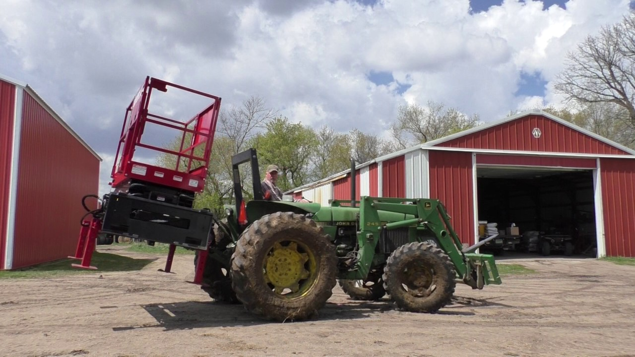 Tractor Scissor Lift Attachment - Skid-Lift