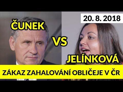 ČUNEK /KDU-ČSL/ vs. JELÍNKOVÁ /SZ/. Zákaz ZAHALOVÁNÍ na veřejnosti v ČR! 20.8.2018