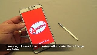 samsung galaxy note 3 review after 5 months of usage