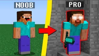 Minecraft Noob vs. Pro vs. Herobrine challenge - Minecraft Battle
