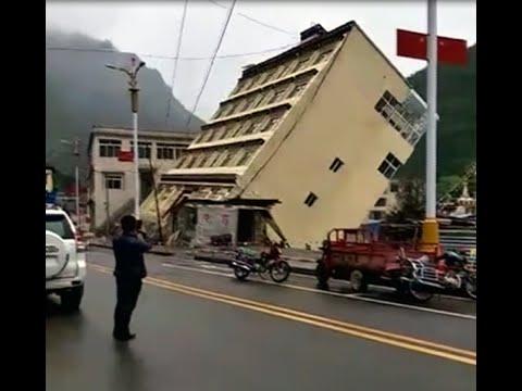 VIDEO: Floods In Tibet Wash Away Building