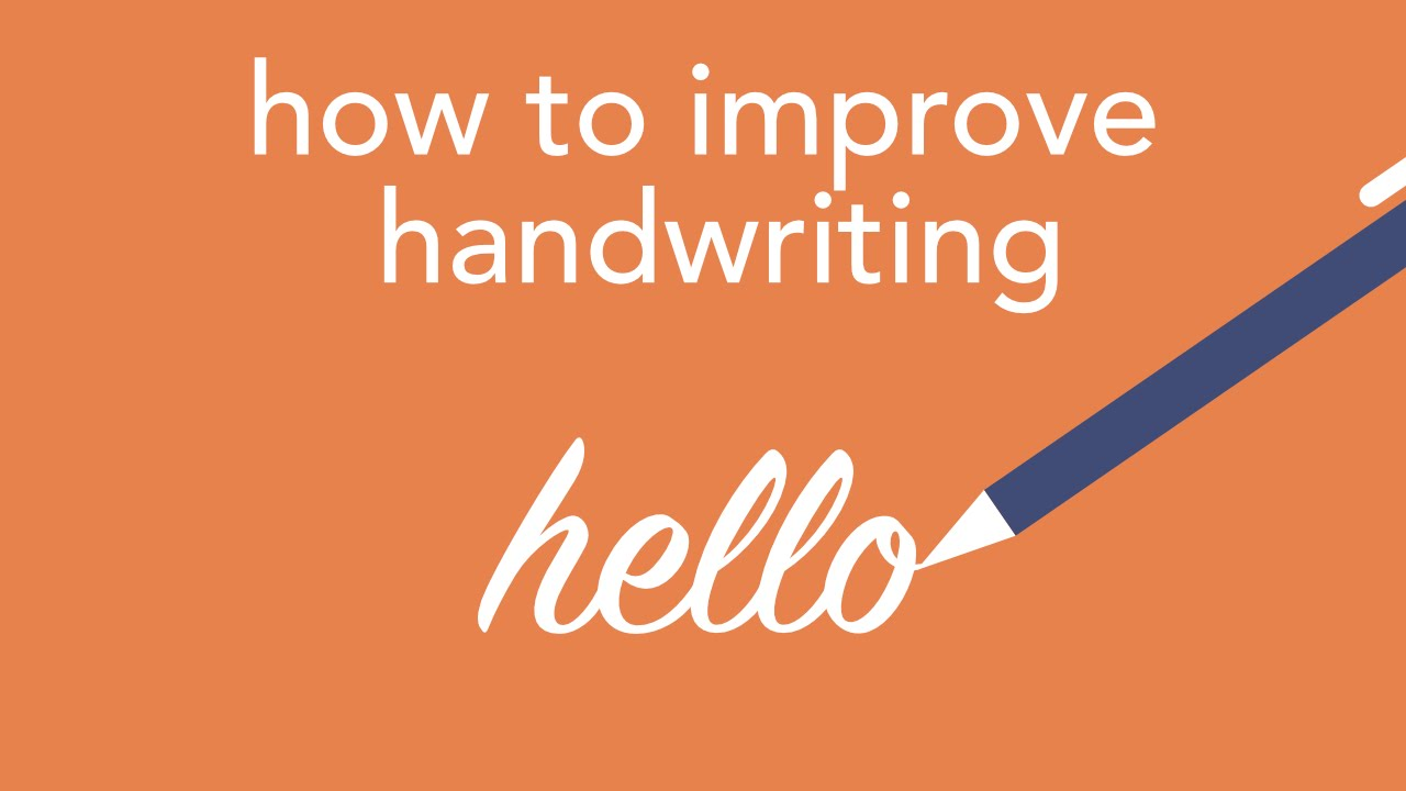 How To Improve Handwriting  Youtube