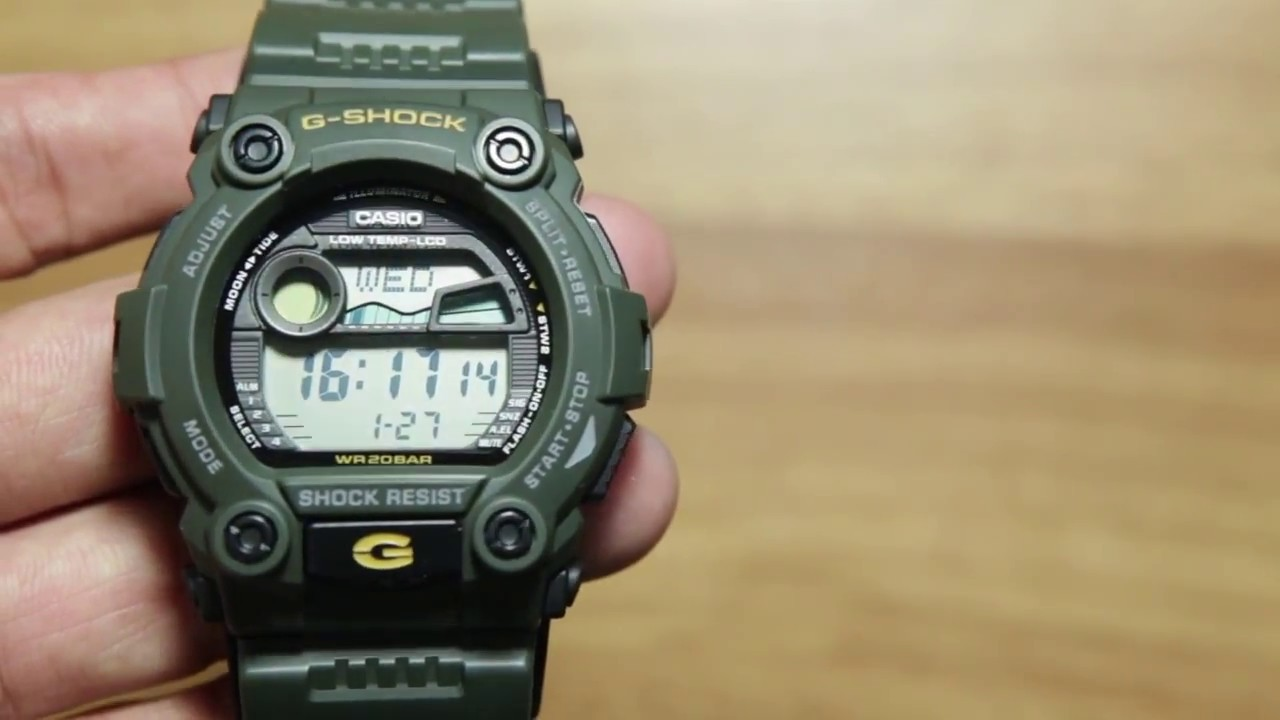 054087aa085c Casio G-shock G-7900-3  UNBOXING   light Demo - YouTube