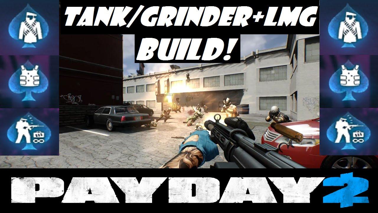 Payday 2: New Skills - LMG+Grinder/Tank Build