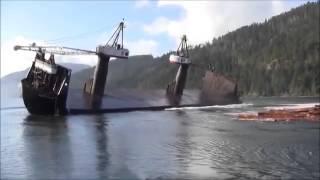 Ship Unloading Cargo
