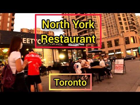 North York, Restaurant, Patio,14 July 2020,Toronto, Canada ,4k