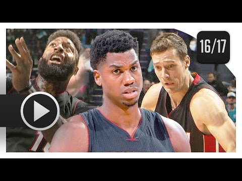 Goran Dragic, Hassan Whiteside & James Johnson Highlights vs Hornets (2017.04.05) - TOO SICK!
