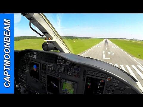 Cessna Citation Bravo Landing Jackson, MS: Live ATC Radio