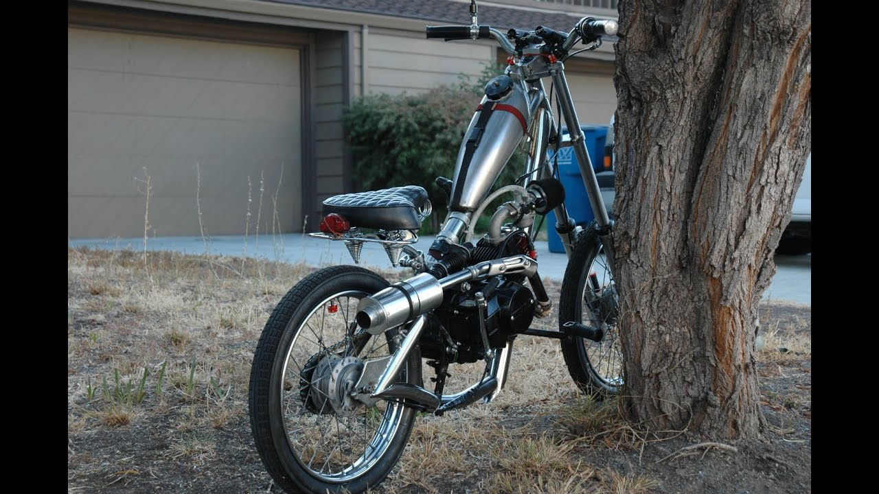 another west coast choppers motorized bike 12HP 55 MPH ...