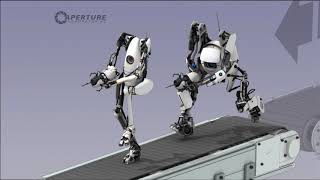 "Portal 2  co-op ""crawl-thru"" of hard-light surfaces!"
