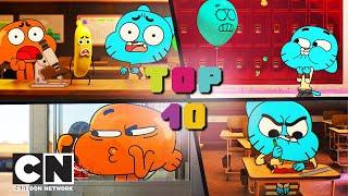 Удивительный мир Гамбола | ТОП 10 школьных пранков | Cartoon Network