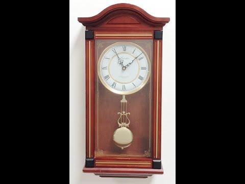 Clock Belvedere Westminster Chime Quartz Operated Pendulum Wall Clock - 994 BidAway