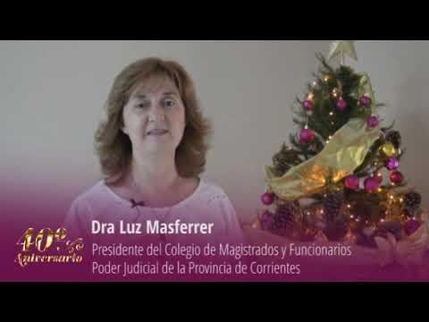 Saludo institucional 2020 Presidente Dra Luz Masferrer