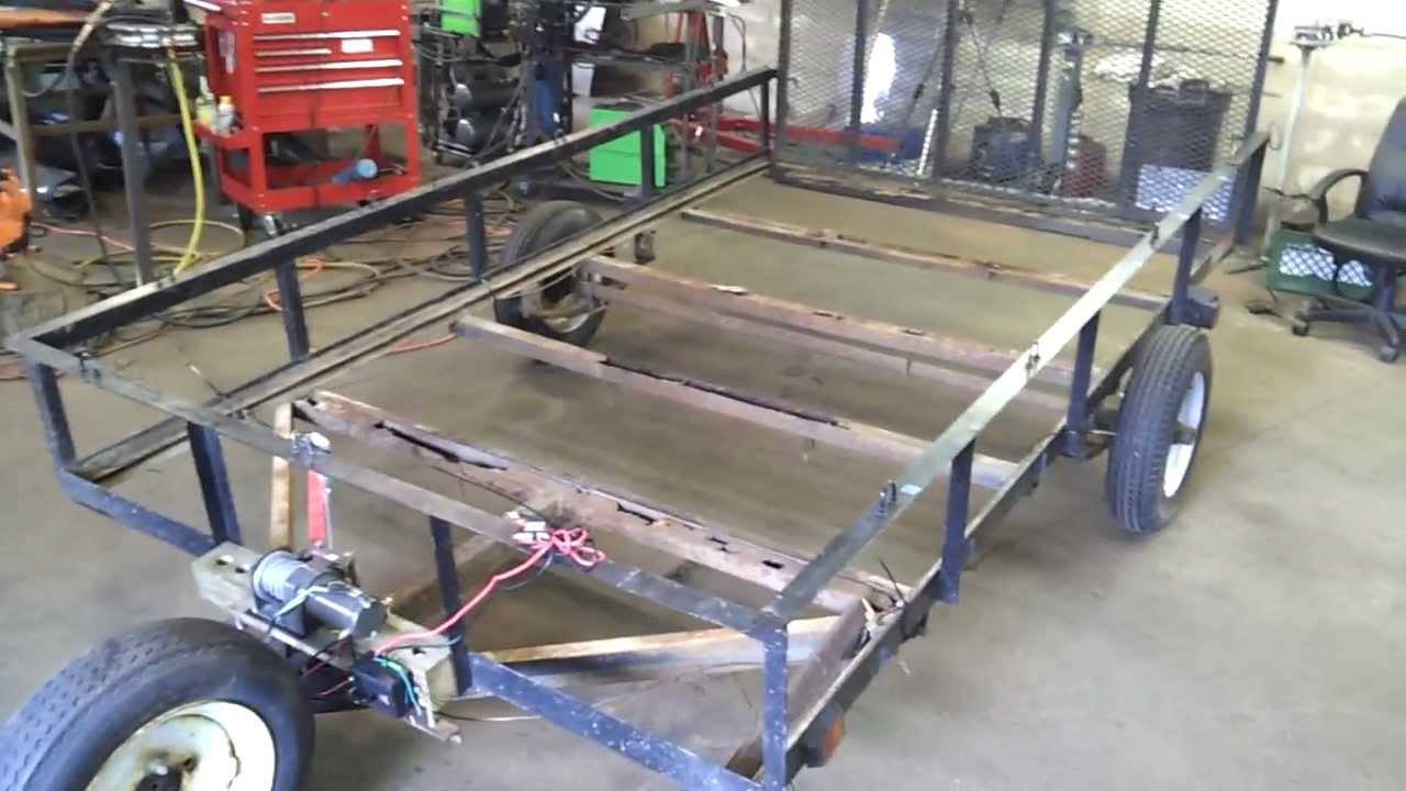 how to build a utility trailer frame