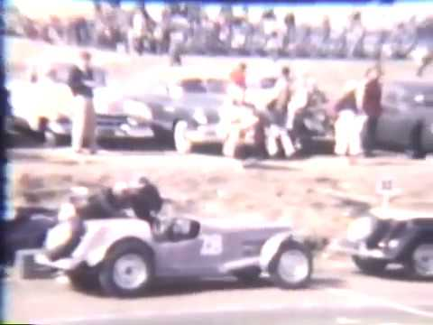 Raw 1950's Vintage racing footage: Laguna Seca, Pebble Beach, etc - Rare Home Movies