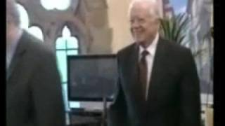 """The Elders"" Jimmy Carter and Desmond Tutu visit Cyprus and REFUSE to talk against the racist apartheid regime imposed by the Turkish army"