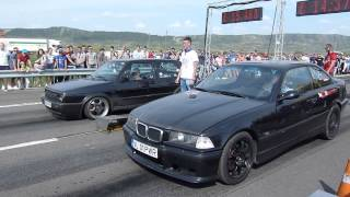 Drag Racing CAMPIA TURZII  BMW E36 2.8i vs GOLF VR6