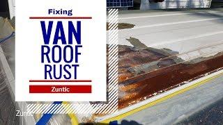 Fixing 2002 GMC 3500 Van paint peeling on roof