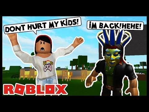 MY STALKER IS BACK AND HE'S AFTER MY KIDS! - Roblox