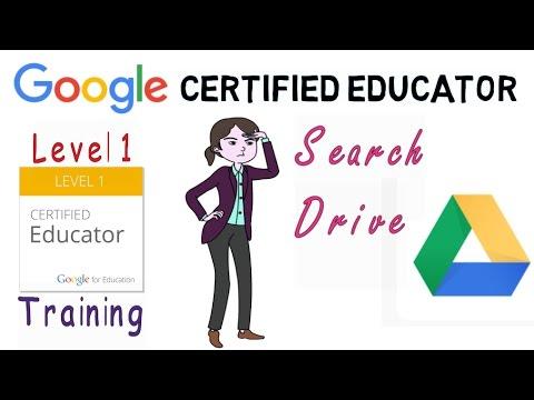 Google Certified Educator Exam: Search Google Drive - YouTube