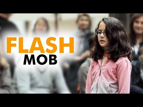 AMAZING  Flash Mob   Started by one little girl   Ode to Joy