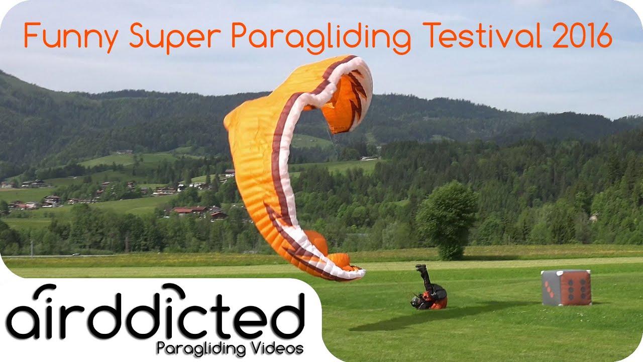 Humorous Takeoffs / Landings Paragliding Testival 2016 Kössen outtakes bloopers fail compilation [4K]