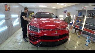 Lamborghini Urus! Как правильно клеить пленку на авто