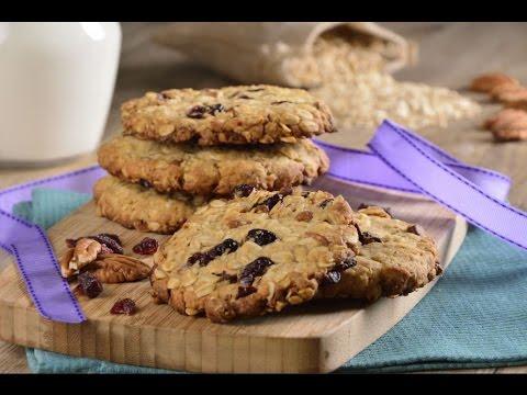 Galletas de Avena Suaves, Fáciles y con Pocos Ingredientes (y sin pasitas) Receta de video Recetas de galletas