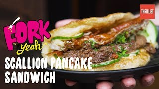 Crispy Scallion Pancake Sandwiches in NYC    Fork Yeah: Little Tong