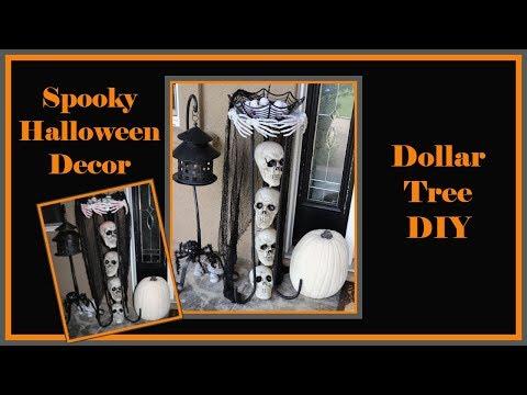Dollar Tree DIY Spooky Skull Table