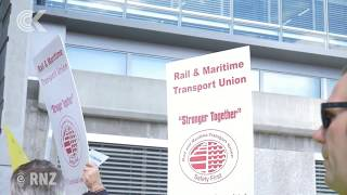 Lyttelton Port workers protest alleged