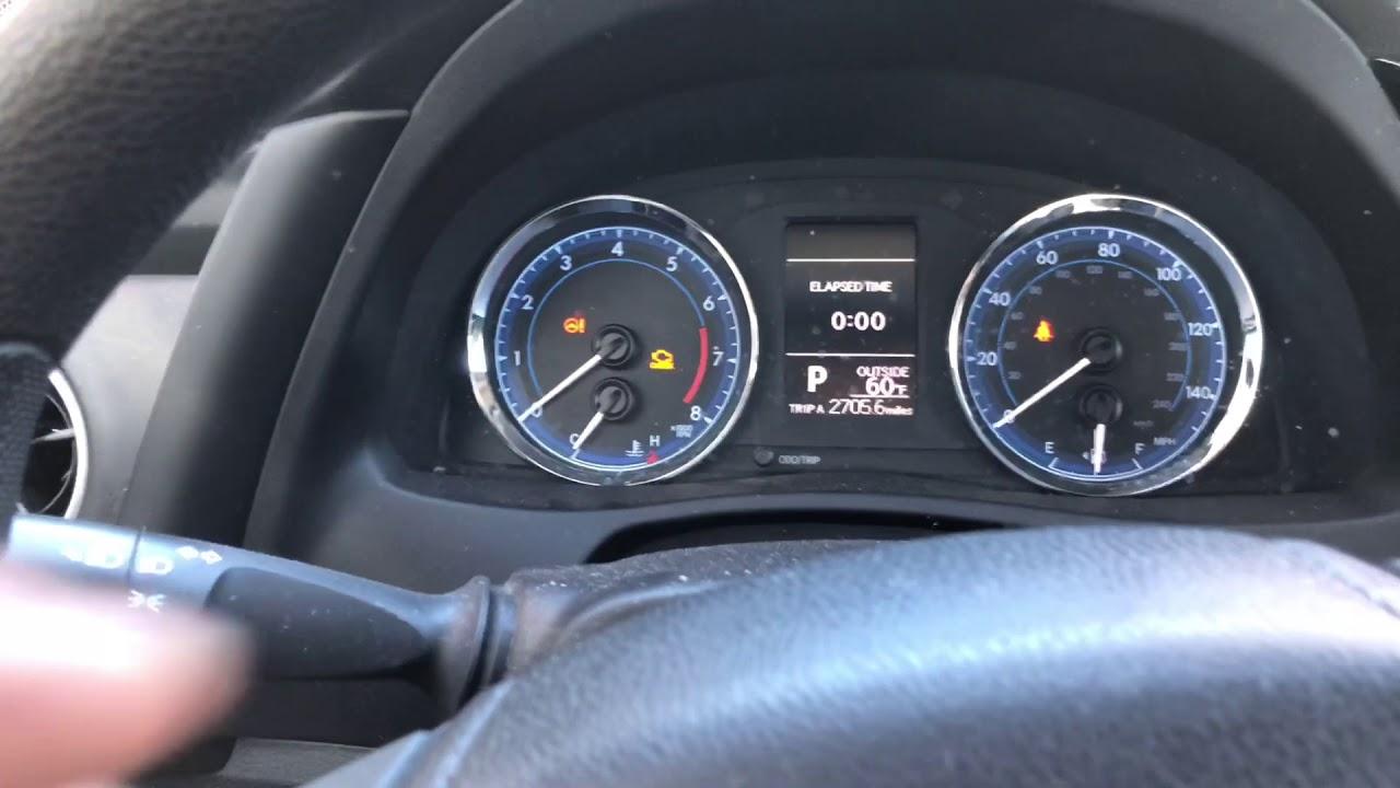 2017 Toyota Corolla Oil Change Reminder Reset