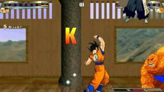 [Mugen 1.0] Random Fight: Big Chicken & Goku vs Byakuya & The Thing