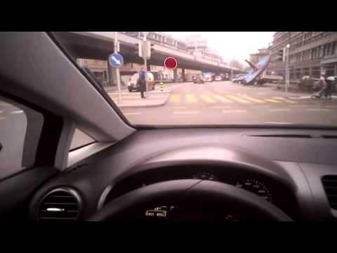 City car driving - with eye tracking glasses
