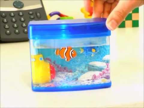 Mini aquarium toy officeplayground youtube for Toy fish tank