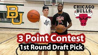 3 Point Contest vs. NBA 1st Round DRAFT PICK!! (D1 Hooper vs. NBA Player Troy Brown Jr.)