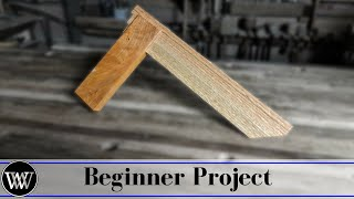 how to make a try square beginner woodworking project