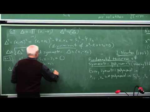 MathHistory21: Galois theory I