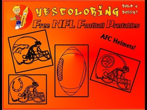 Afc Football Helmet Coloring Pages