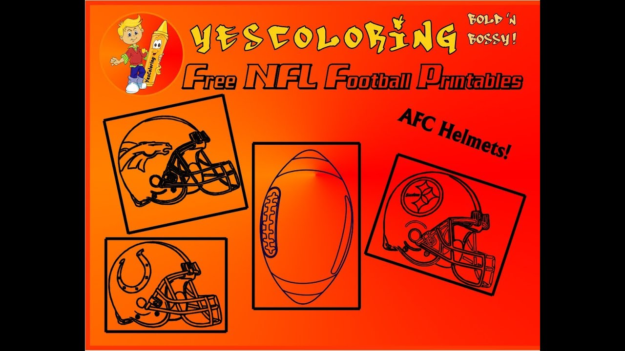 tight afc football helmet coloring pages