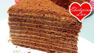 ШОКОЛАДНЫЙ МЕДОВИК со сметанным кремом Простой доступный рецепт Медовый торт Спартак