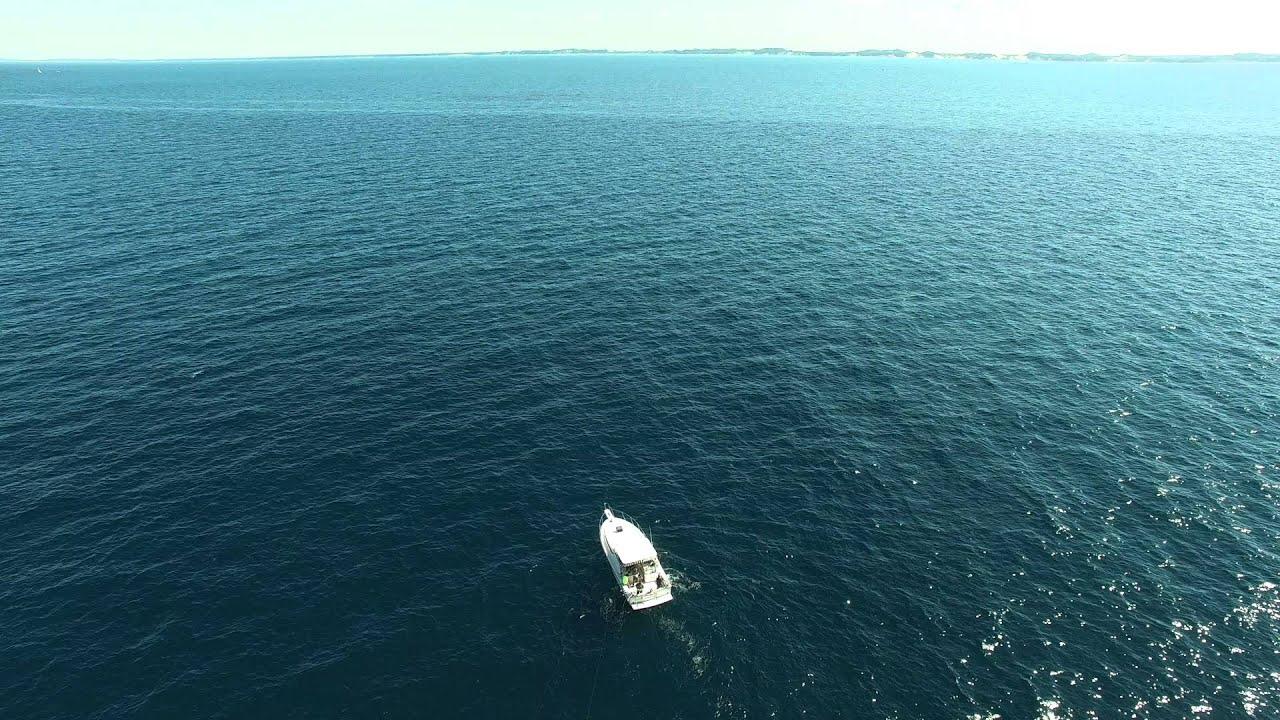 OFishally Hooked Aerial Open Water DJI Phantom 4K - YouTube